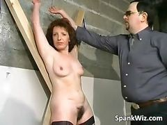 Tied Brunette Gets Big Ass Spanked Part6