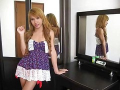Nice Ladyboy Jerking Off Movie.