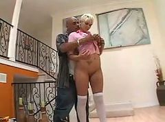 Short Hair Blonde Enjoys BIG BLACK COCK! Read & Comment