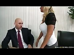 Bigtit Blonde Milf Fucks Sucks Coworkers Big Cock In Office