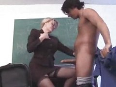 Busty Teacher Screwed By The Janitor